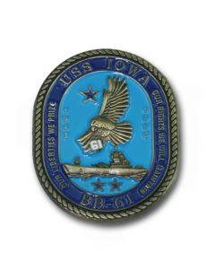 USS Iowa Challenge Coin