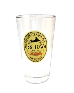 USS Iowa Pint Glass