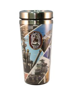 Travel Mug Collage USS IOWA