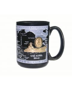 USS Iowa Map Mug