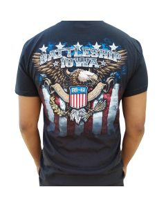Adult Battleship IOWA Bald Eagle Tee