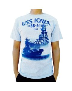 Adult USS IOWA BB-61 1943 Tee