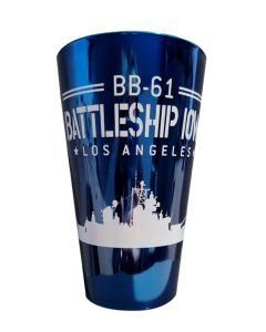 BB-61 Battleship IOWA Pint Glass