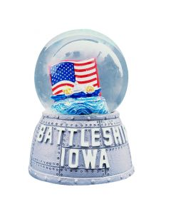 BB-61 Battleship IOWA Water Globe