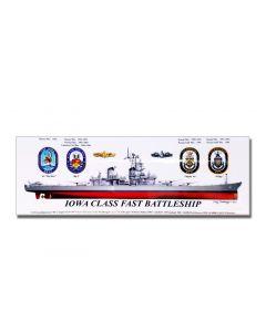IOWA Class Fast Battleship Tranbanger Magnet