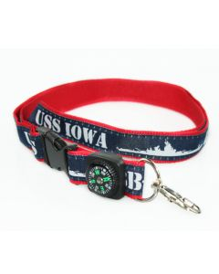 USS Iowa Lanyard with Compass