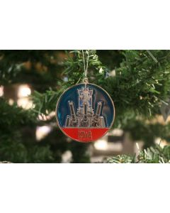 USS IOWA Christmas Ornament