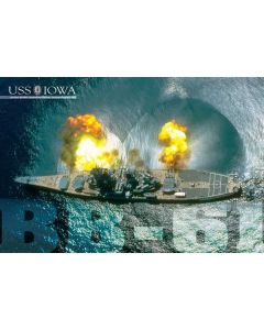 USS IOWA Guns Firing Poster