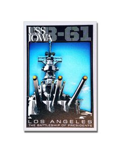 USS IOWA BB-61 D Magnet