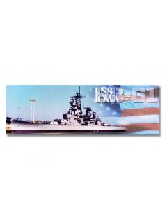 USS IOWA BB-61 Panoramic USA Flag Magnet