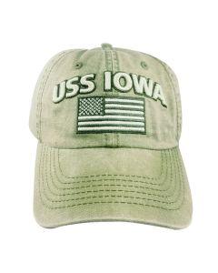 USS IOWA United States Flag Cap