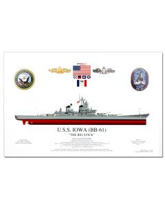 USS Iowa ''The Big Stick'' Print